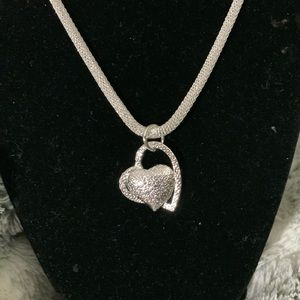 STERLING SILVER DOUBLE 💕HEART AND CHAIN